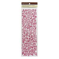 Glitter Alpha Stickers: Dark Pink