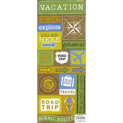 Stickabilities Cardstock Stickers: Vacation