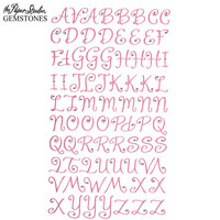 Gemstones Glitter Gem Alpha Stickers: Pink