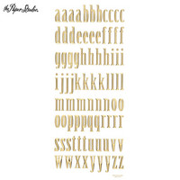 Bubble-A-Bilities Alpha Stickers: Lowercase Gold Foil