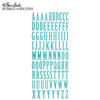 Bubble-A-Bilities Alpha Stickers: Uppercase Turquoise