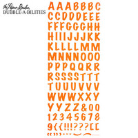 Bubble-A-Bilities Epoxy Alpha Stickers: Block Orange