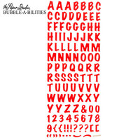 Bubble-A-Bilities Epoxy Alpha Stickers: Block Red