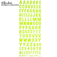 Bubble-A-Bilities Epoxy Alpha Stickers: Block Lime Green