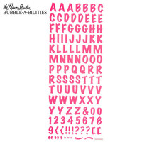 Bubble-A-Bilities Epoxy Alpha Stickers: Block Pink