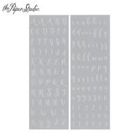 Alpha Rub-Ons: Silver Foil Script  - siirtokuvapakkaus.