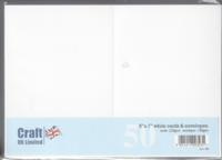 Craft UK : 5x7 korttipohjat ja kirjekuoret 50 kpl valkoinen