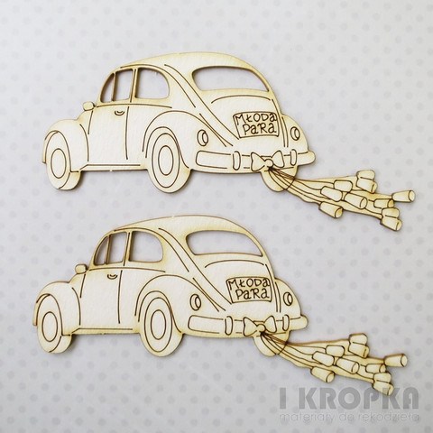 Just Married VW - chipboardpakkaus