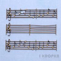 Music Notes  - chipboardpakkaus