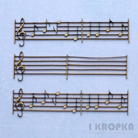 Music Notes  - chipboardpakkaus