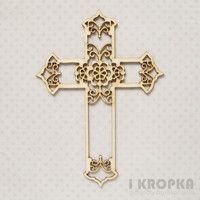 Ornamental Cross - chipboardpakkaus