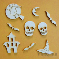 Halloween 1 - chipboardpakkaus