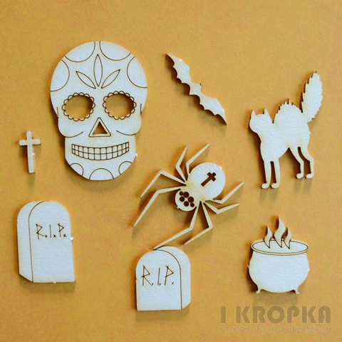 Halloween 2 - chipboardpakkaus