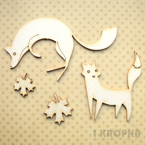 Fall Foxes - chipboardpakkaus
