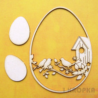 Spring Birds & Eggs - chipboardpakkaus