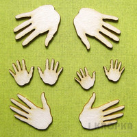 Handprints - chipboardpakkaus