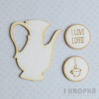 I Love Coffee - chipboardpakkaus