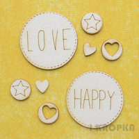 Love & Happy - chipboardpakkaus