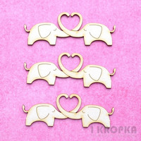 Elephants in Love  - chipboardpakkaus