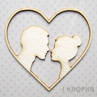 Couple Heart  - chipboardpakkaus