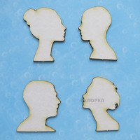 Head Silhouettes  - chipboardpakkaus