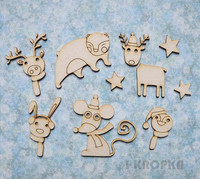 Christmas Critters - chipboardpakkaus