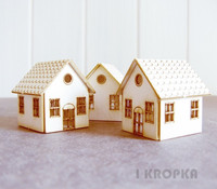 Mini Houses 3 kpl - chipboardpakkaus