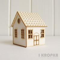 Midi House 3D (sivuovi)  - chipboardpakkaus