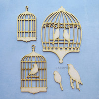 Birdcages 1   - chipboardpakkaus
