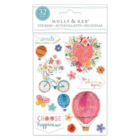 Molly & Rex Clear Stickers: Balloon Bikes
