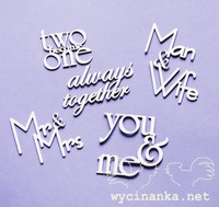 Inscriptions Set: You & Me Always Together - leikekuviopakkaus
