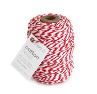 Cotton Twist: Red & White - leipurinnyöri