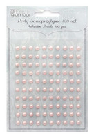 Adhensive Pearls : Pink 5 mm