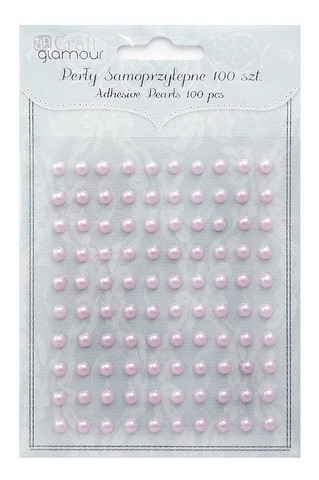 Adhensive Pearls : Lilac 5 mm