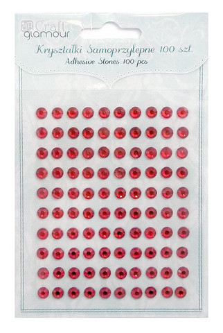 Adhensive Stones : Ruby 6 mm