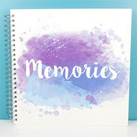 Scrapbook Album 12x12 : Memories Blue