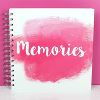 Scrapbook Album 8x8 : Memories Pink