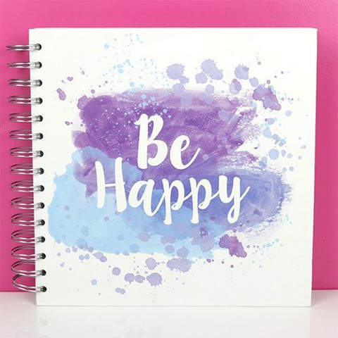 Scrapbook Album 8x8 : Be Happy