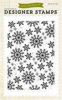 Snowflakes 4x6 - taustaleimasin