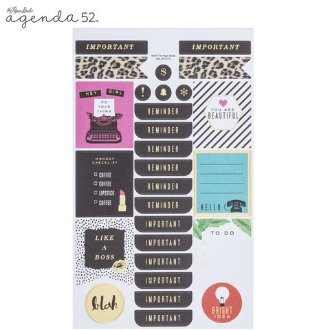 Agenda 52 Foiled Sticker Pack: Color Pop -tarrakirja
