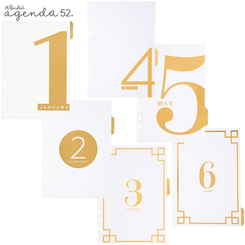 Gold Foil Monthly Tabbed Dividers