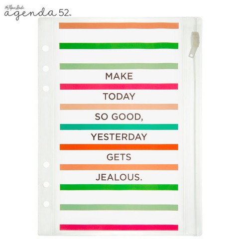 Clear Plastic Pouch: Make Today So Good Striped