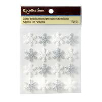 Christmas Glitter Embellishments: Snowflakes