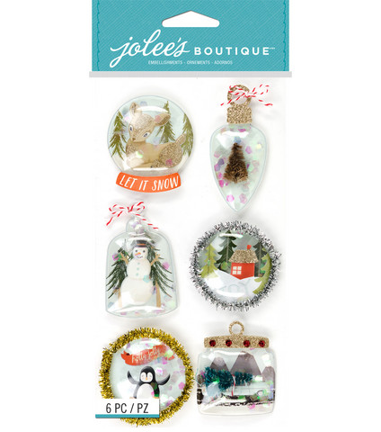 Jolee's Boutique 3D Stickers: Ornament Snow Globes