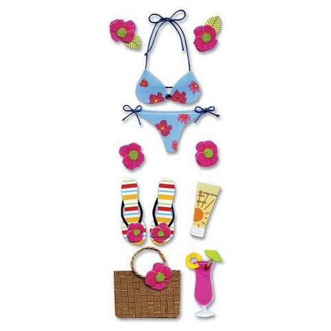 Jolee's by You Dimensional Stickers: Tropical Bikini