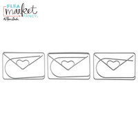 Flea Market Fancy Paperclips: Silver Large Envelope