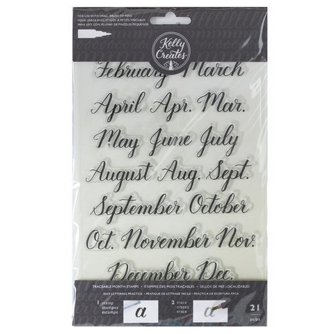 Kelly Creates Traceable Month Stamps