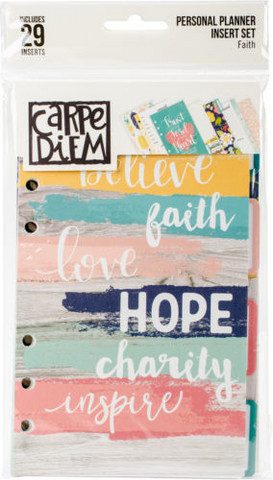 Carpe Diem: Faith Personal Inserts