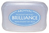 Brilliance: Pearlecent Sky Blue  - mustetyyny