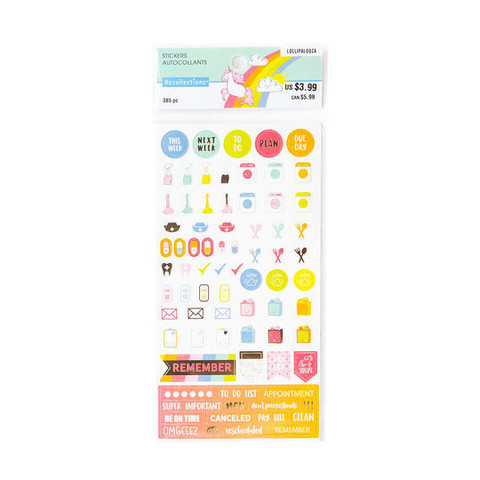 Recollections Planner Stickers:  Lollipalooza Must Do - tarrapakkaus